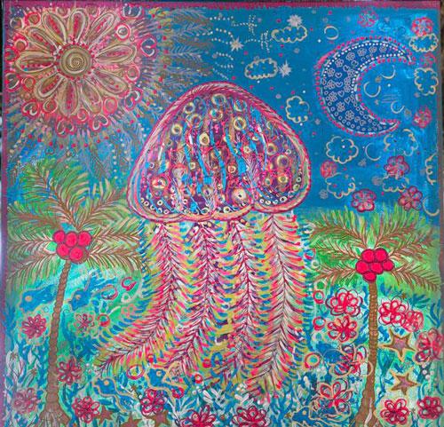 En el mar hay muchas flores