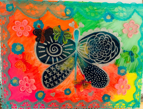 Mariposa en tela