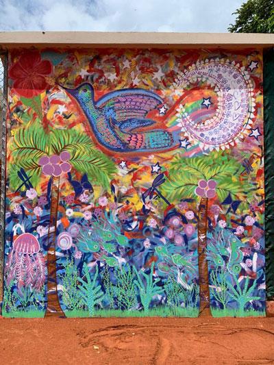 Mural el colibri y Luna