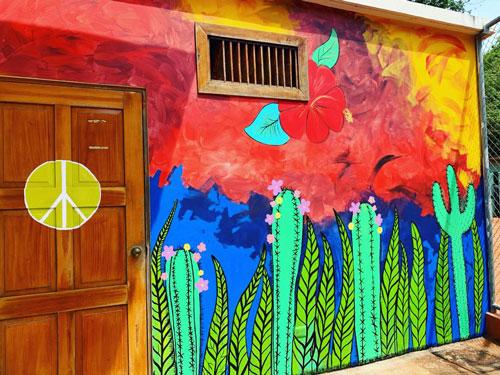 Mural el colibri y flor